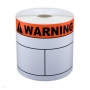 "Cascade Labeling™ Die-Cut Labels w/ Ink-Printed Warning Header, 4.00"" x 6.00"", 240 ct"