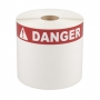 "Cascade Labeling™ Die-Cut Labels w/ Thermal-Printed Danger Header, 4.00"" x 6.00"", 240 ct"