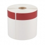 "Cascade Labeling™ Die-Cut Labels w/ Thermal-Printed Red Stripe, 4.00"" x 6.00"", 240 ct"