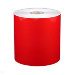 "Cascade Labeling™ Reflective Industrial Label Tape, Red, 4.00"" x 75'"