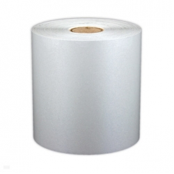 "Cascade Labeling™ Reflective Industrial Label Tape, White, 4.00"" x 75'"